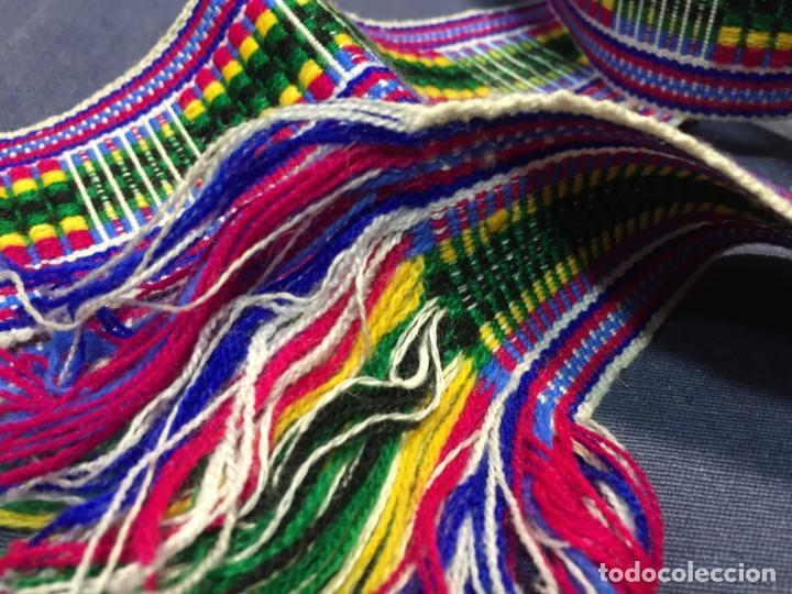 Arte: CINTA ANCHA TEJIDA TELAR LANA LLAMA ALPACA O SIMILAR COLOMBIA ECUADOR 5,5X270CMS - Foto 3 - 210470047