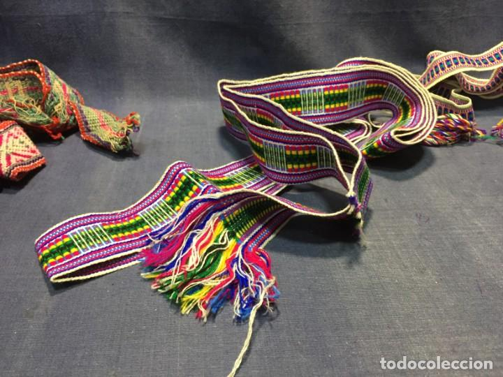 Arte: CINTA ANCHA TEJIDA TELAR LANA LLAMA ALPACA O SIMILAR COLOMBIA ECUADOR 5,5X270CMS - Foto 4 - 210470047