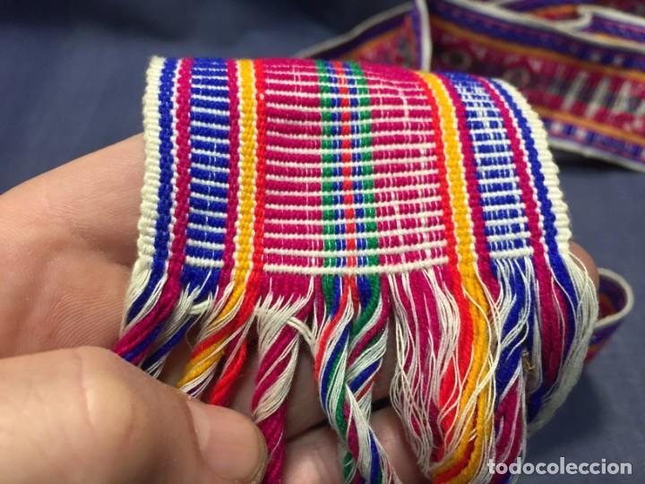 Arte: CINTA ANCHA TEJIDA TELAR LANA LLAMA ALPACA O SIMILAR COLOMBIA ECUADOR 7X260CMS - Foto 15 - 210470486
