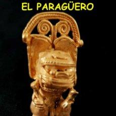 Arte: VALE PARA SER COLGANDO - CHAMAN ZOOMORFICO PRECOLOMBINO QUIMBAYA DE ORO TUMBAGA PESO 41 GRAMOS -S7. Lote 211433675