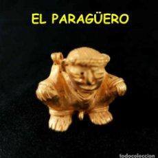 Arte: VALE PARA SER COLGANDO -RARO INDIO CANASTERO PRECOLOMBINO QUIMBAYA DE ORO TUMBAGA PESO 27 GRAMOS -S8. Lote 211433930