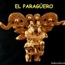 Arte: VALE PARA SER COLGANDO -RARO CHAMAN RAMASSON PRECOLOMBINO TAIRONA DE ORO TUMBAGA PESO 53 GRAMOS -S9. Lote 211434749