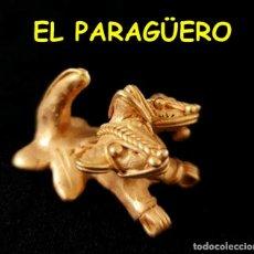 Arte: VALE PARA SER COLGADO -JAGUAR DE 2 CABEZAS PRECOLOMBINO TAIRONA DE ORO TUMBAGA PESO 31 GRAMOS -S10. Lote 211442570