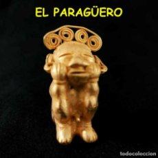 Arte: VALE PARA SER COLGADO - INDIO OPITA DESNUDO PRECOLOMBINO TAIRONA DE ORO TUMBAGA PESO 28 GRAMOS -S11. Lote 211442696