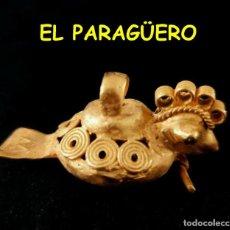 Arte: VALE PARA SER COLGADO - PAJARO ITU PRECOLOMBINO TAIRONA DE ORO TUMBAGA PESO 26 GRAMOS -S15. Lote 211442980