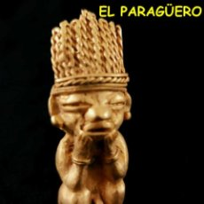 Arte: RARO INDIO PAPUTO PRECOLOMBINO TAIRONA DE ORO TUMBAGA PESO 35 GRAMOS -S17. Lote 211443074