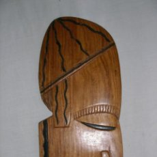 Arte: MÁSCARA AFRICANA TRIBAL TALLA MADERA. Lote 211455636