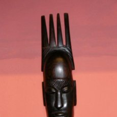 Arte: MÁSCARA AFRICANA TRIBAL TALLA MADERA. Lote 211456962
