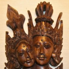 Arte: ESPECTACULAR TALLA DE MADERA DE PAREJA DE PRÍNCIPES (BALI-INDONESIA). Lote 211808088