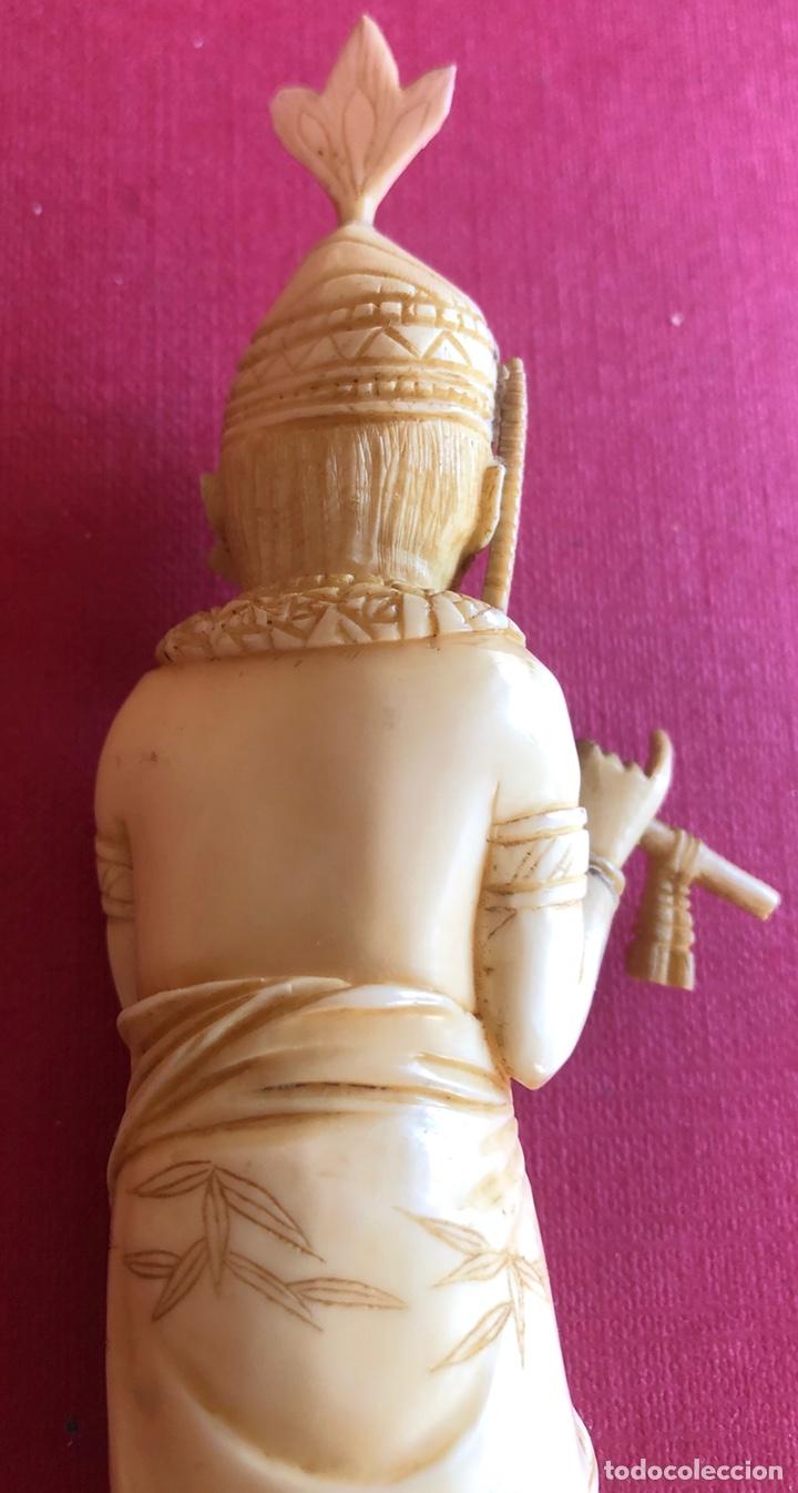 Arte: Soberbia pareja antigua, de músicos en marfil, o hueso. Pps de S.XX. - Foto 15 - 212258436