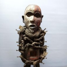 Arte: ARTE ÉTNICO AFRICANO. FETICHE NKISI. BAKONGO YOMBE DEL TIPO NKONDI.CONGO.ÁFRICA.. Lote 212493645