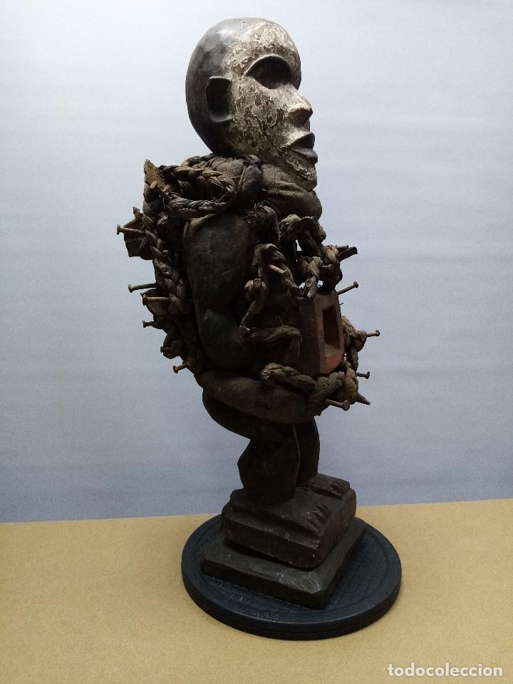 Arte: ARTE ÉTNICO AFRICANO. FETICHE NKISI. BAKONGO YOMBE del tipo NKONDI.CONGO.ÁFRICA. - Foto 2 - 212493645