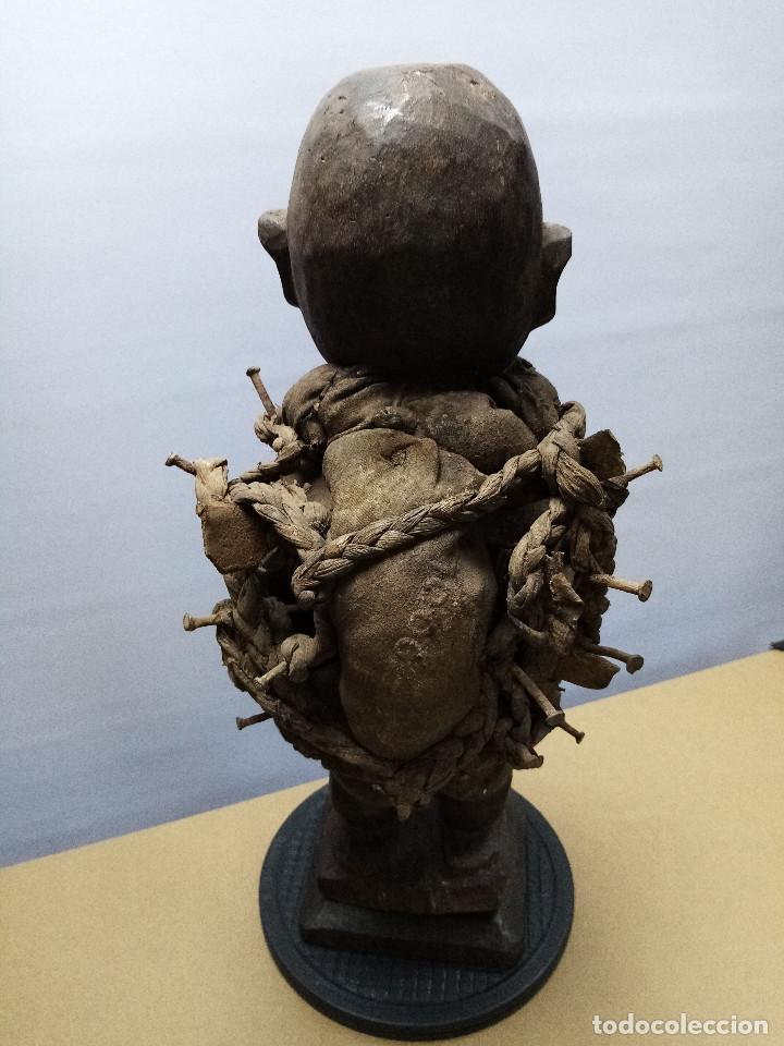 Arte: ARTE ÉTNICO AFRICANO. FETICHE NKISI. BAKONGO YOMBE del tipo NKONDI.CONGO.ÁFRICA. - Foto 4 - 212493645