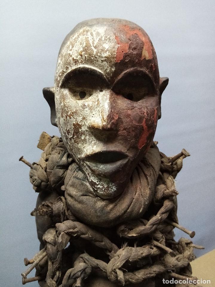 Arte: ARTE ÉTNICO AFRICANO. FETICHE NKISI. BAKONGO YOMBE del tipo NKONDI.CONGO.ÁFRICA. - Foto 5 - 212493645