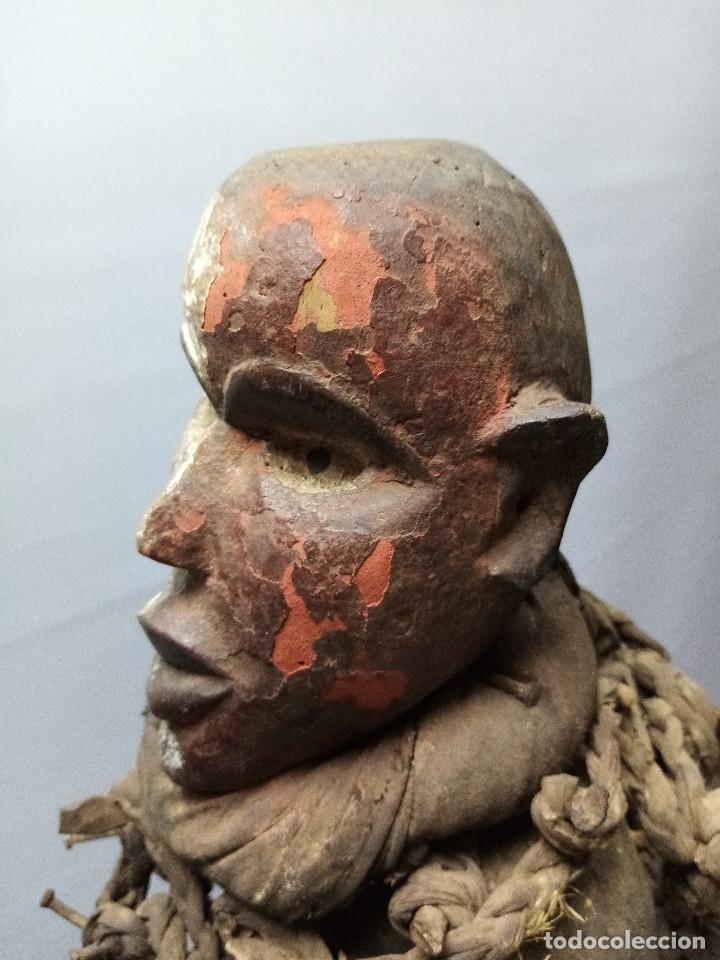Arte: ARTE ÉTNICO AFRICANO. FETICHE NKISI. BAKONGO YOMBE del tipo NKONDI.CONGO.ÁFRICA. - Foto 7 - 212493645