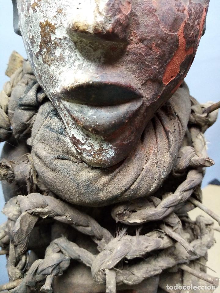 Arte: ARTE ÉTNICO AFRICANO. FETICHE NKISI. BAKONGO YOMBE del tipo NKONDI.CONGO.ÁFRICA. - Foto 9 - 212493645
