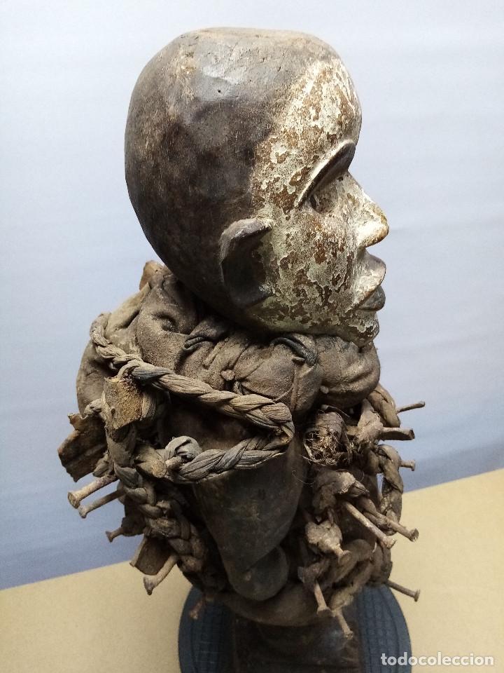 Arte: ARTE ÉTNICO AFRICANO. FETICHE NKISI. BAKONGO YOMBE del tipo NKONDI.CONGO.ÁFRICA. - Foto 12 - 212493645