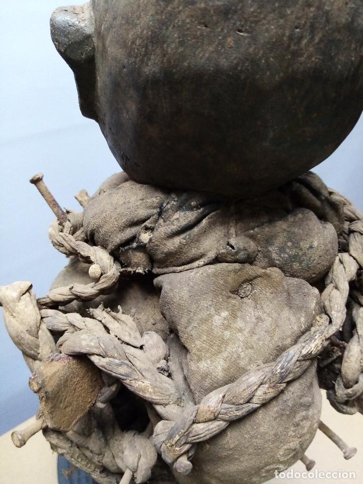 Arte: ARTE ÉTNICO AFRICANO. FETICHE NKISI. BAKONGO YOMBE del tipo NKONDI.CONGO.ÁFRICA. - Foto 14 - 212493645