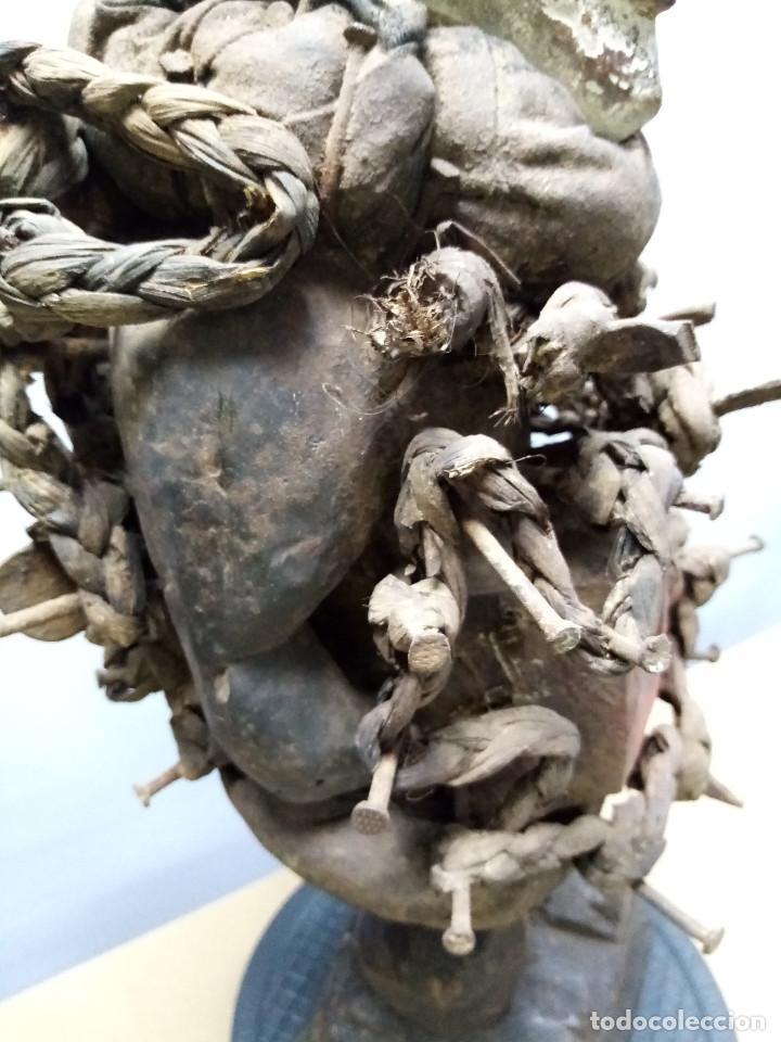 Arte: ARTE ÉTNICO AFRICANO. FETICHE NKISI. BAKONGO YOMBE del tipo NKONDI.CONGO.ÁFRICA. - Foto 15 - 212493645