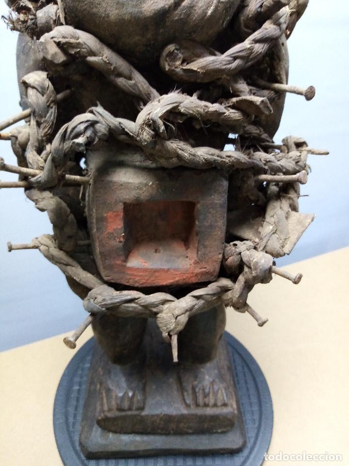 Arte: ARTE ÉTNICO AFRICANO. FETICHE NKISI. BAKONGO YOMBE del tipo NKONDI.CONGO.ÁFRICA. - Foto 28 - 212493645