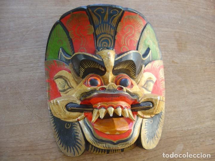 MÁSCARA DE MADERA. INDONESIA. (Arte - Étnico - Asia)