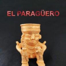 Arte: VALE DE COLGANTE RARA FIGURA EROTICA ANTROPOM PRECOLOMBINA TAIRONA DE ORO TUMBAGA PESO 81 GRAMOS-P11. Lote 267669364