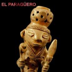 Arte: GUERRERO CHIRUPA PRECOLOMBINO QUIMBAYA DE ORO TUMBAGA PESO 71 GRAMOS-P18. Lote 267669579