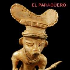 Art: DESNUDO GUERRERO SISU PRECOLOMBINO QUIMBAYA DE ORO TUMBAGA PESO 81 GRAMOS-P20. Lote 212656552