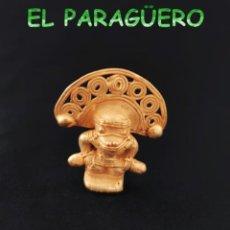 Arte: VALE PARA COLGANTE - CHAMAN ANTROPOMORFO PRECOLOMBINO TAIRONA DE ORO TUMBAGA PESO 23 GRAMOS -T3. Lote 222405698