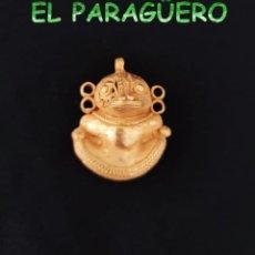 Arte: VALE PARA COLGANTE - PAJARO YUTERO PRECOLOMBINO QUIMBAYA DE ORO TUMBAGA PESO 21 GRAMOS -T6. Lote 212808788