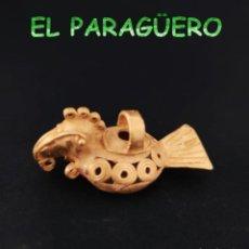 Arte: VALE PARA COLGANTE - PAJARO CANASTERO PRECOLOMBINO QUIMBAYA DE ORO TUMBAGA PESO 24 GRAMOS -T8. Lote 212810822