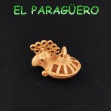 Art: VALE PARA COLGANTE - PAJARO CHIZUETO PRECOLOMBINO QUIMBAYA DE ORO TUMBAGA PESO 22 GRAMOS -T9. Lote 212810972
