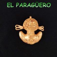 Arte: COLGANTE ZOOMORFICO PRECOLOMBINO QUIMBAYA DE ORO TUMBAGA PESO 35 GRAMOS -T14. Lote 212812330