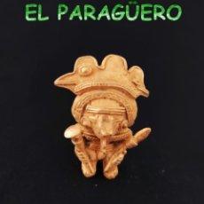 Arte: VALE PARA COLGANTE - CACIQUE DE 2 CETROS PRECOLOMBINO QUIMBAYA DE ORO TUMBAGA PESO 42 GRAMOS -T17. Lote 224463783