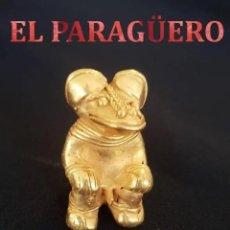 Arte: VALE PARA COLGANTE - CHAMAN ZOOMORFICO PRECOLOMBINO QUIMBAYA DE ORO TUMBAGA PESO 23 GRAM -T24. Lote 212814301
