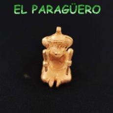Arte: VALE PARA COLGANTE - CHAMAN ZOOMORFO PRECOLOMBINO QUIMBAYA DE ORO TUMBAGA PESO 37 GRAM -T26. Lote 212814492