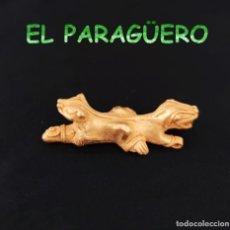 Arte: VALE PARA COLGANTE - CATURRO REPTIL PRECOLOMBINO QUIMBAYA DE ORO TUMBAGA PESO 33 GRAM -T27. Lote 212814541