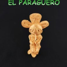 Arte: VALE PARA COLGANTE - CHAMAN ANTROPOMORFO PRECOLOMBINO QUIMBAYA DE ORO TUMBAGA PESO 43 GRAM -T31. Lote 212814601