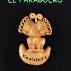 Arte: VALE PARA COLGANTE - PAJARO REAL PRECOLOMBINO TAIRONA DE ORO TUMBAGA PESO 50 GRAM -T32. Lote 212933956