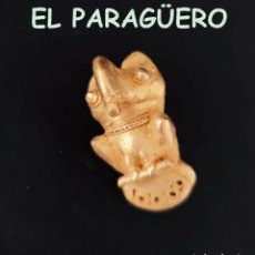 Arte: VALE PARA COLGANTE - RARO BUHO PRECOLOMBINO TAIRONA DE ORO TUMBAGA PESO 50 GRAM-T38. Lote 212938451