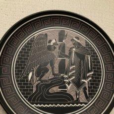 Arte: PLATO CERÁMICA NEGRA GRIEGO. Lote 212938791
