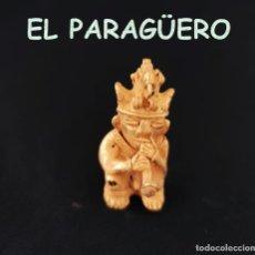 Arte: VALE PARA COLGANTE HOMBRE AVE FLAUTISTA PRECOLOMBINO QUIMBAYA DE ORO TUMBAGA PESO 33 GRAM-T44. Lote 212940792