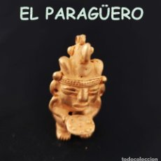 Arte: VALE PARA COLGANTE HOMBRE AVE EN OFRENDA PRECOLOMBINA QUIMBAYA DE ORO TUMBAGA PESO 36 GRAM-T45. Lote 224464007