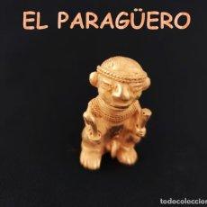 Arte: CHAMAN EROTICO DE 2 CETROS ANTROPOMORFO DE QUIMBAYA DE ORO TUMBAGA PESO 43 GRAM-T48 HAY MAS VARIADOS. Lote 212943127