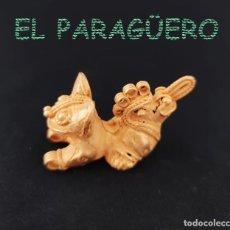 Art: VALE PARA COLGANTE RARO JAGUAR DE 2 CABEZAS PRECOLOMBINO QUIMBAYA DE ORO TUMBAGA PESO 27 GRAM-T58. Lote 212945493