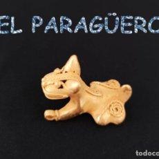 Arte: VALE PARA COLGANTE RARO JAGUAR PRECOLOMBINO QUIMBAYA DE ORO TUMBAGA PESO 22 GRAM-T62. Lote 212948361