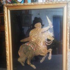 Arte: CUADRO MARRUECOS? REALIZADO A MANO EN RELIEVE. CON CRISTAL. 47X57CM. Lote 213715707