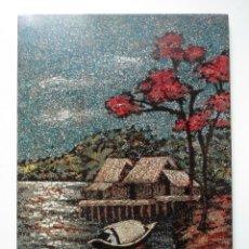 Arte: PINTURA A LA LACA SOBRE TABLA, DE VIETNAM.. Lote 213888543