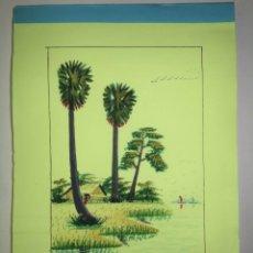 Arte: CUADERNO DE NOTAS PINTADO A MANO EN TODAS LAS HOJAS. Lote 213889050