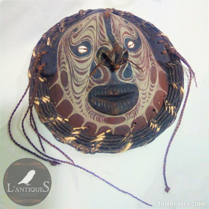 MASCARA ORIGINAL PAPUA NUEVA GUINEA, MÁSCARA ESPIRITU TORTUGA, SEPIK ANTIGUA, TRIBU IATMUL XIX - XX (Arte - Étnico - Oceanía)